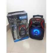 Caixa Amplificada Livstar CNN8015TS BLUE.USB/SD/FM/MIC 40Wrms