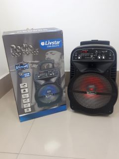 Caixa Amplificada Livstar CNN8022TS BLUE.USB/SD/FM/MIC 40WRMS