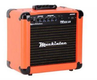 Caixa Amplificada Mackintec Maxx10 C/Distorção Guitarra 15wrms Laranja