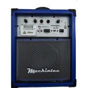 Caixa Amplificada Mackintec Yonng Uz X150 Usb/Sd/Fm C/Cont.Remoto Multiuso 15w Azul