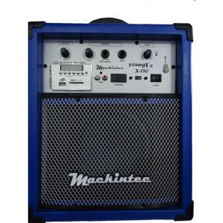 Caixa Amplificada Mackintec Yonng Uz X150 Usb/Sd/Fm C/Controle Remoto Multiuso 15w Azul