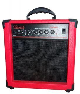 Caixa Amplificadora Supertech G15WR Vermelha
