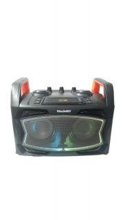 CAIXA AMPLIFICADA TECDRIVE TEC-DJ90 USB/BLUE/FM 1MIC