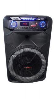 CAIXA AMPLIFICADA TRC 515 BLUE.USB/SD/FM,4ENT.1MIC.S/FIO FAL15 BAT12V RODA ATIVA C/CONT.REM. 500W REF