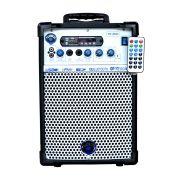 Caixa Amplificada Turbox Tb200 Bluetooth Usb/Cd/Fm,Fal6 C/Cont.Rem.Multiuso 40wrms