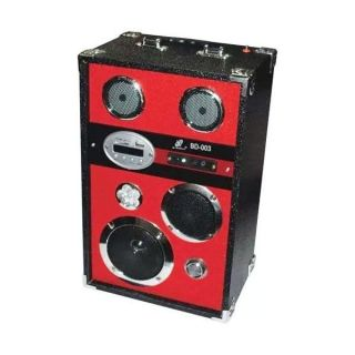 Caixa Amplificada Xcell Bd003 Usb/Sd/Mp3 Fm Bateria12v, Controle Remoto