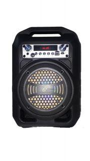 CAIXA AMPLIFICADA XCELL XCCP30 BLUETOO USB/SD/FM,1MIC.1AUX.P2,1CAN.P10,1FA PRETA