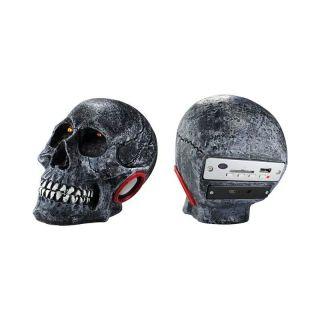 Caixa Amplificada Xcell Xcdj16bt Caveira Cranio Bluetooth Usb/Sd/Fm,C/Bat. Preta
