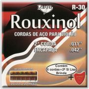 Encordoamento Para Violão Rouxinol R30 Aco C/ Bolinha