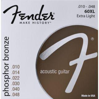 Encordoamento para  Violão Fender 61239 70xl Aço Bronze Fosforoso Extra Leve 010/048