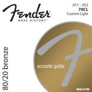 Encordoamento Para Violão Fender 61245 70cl Aço Bronze Fosforoso Leve Personalizado 011/052