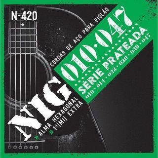Encordoamento Para Violão Nig N420 Aco Cobre Preteado 010
