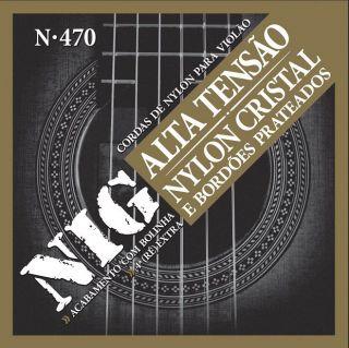 Encordoamento Para Violão Nig  N470 Nylon Cristal Prateado Com Bolinha