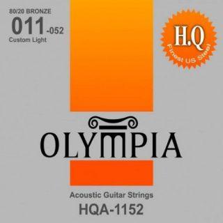 Encordoamento Para Violão Olympia HQA1152 Aço Bronze Medium 011