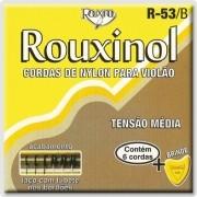 Encordoamento Violão Rouxinol R53b Nylon Prateadas