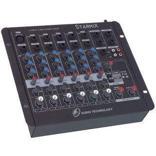 Mesa De Som 6 Canais LL US602RBT Bluetooth Usb Starmix 1Xlr
