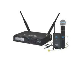 Microfone Lyco Uhxpro02mhli Uhf 100 Freq.s/fio Mao Cabeça L