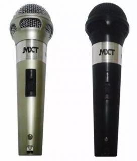 Microfone Mxt M201 54124 C/2 Micr. Prata E Preto C/cabo