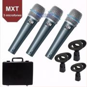 Microfone Mxt Pro BTM57A C/3Pçs 541116 C/3 Pçs C/Caximbo S/Cabo