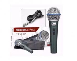 Microfone Mxt Pro BTM58A C/1Peça 541107 C/Cabo