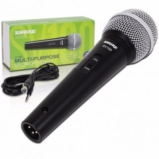 Microfone Shure SV100 C/Cabo Preto