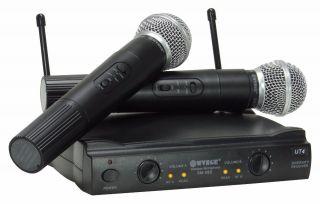 Microfone WVNGR SM58II UHF 1 Frequência, S/Fio, Mão,  Duplo, 2 Antenas