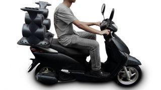 """Caixa Acústica Supertech Navesom ASA2 C/ 4 Fal.antes 6"""" 4 Tweeter Propaganda Moto Bike carro"""