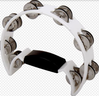 Pandeiro meia Lua Spanking C/Manopla Plastico Branco