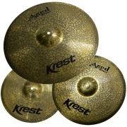 Prato Kit Krest ABSET1 Aged Brass Latao 13´14´18 C/Capa Acab.Envelhecido