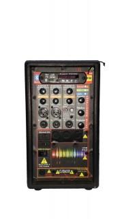 Amplificador Supertech S386 Bluet.USB/SD/FM 1Can.N36.Con.Rem.Rever. 386WR