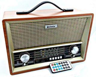 Rádio Livstar Cnn2068BT Blue.Usb/Sd/Fm Fal4 8Wrms
