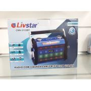 Rádio Livstar Cnn3132BT Blue.Usb/Sd/Fm 3Wrms