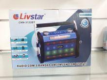 Rádio Livstar Cnn3132BT Blue.Usb/Sd/Fm 3Wrms