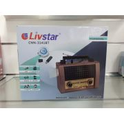 Rádio Livstar Cnn3141BT Blue.Usb/Sd/Fm 3Wrms