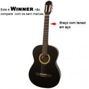 Violão Winner AW20 38 Estudante Nylon Classico Acustico Preto