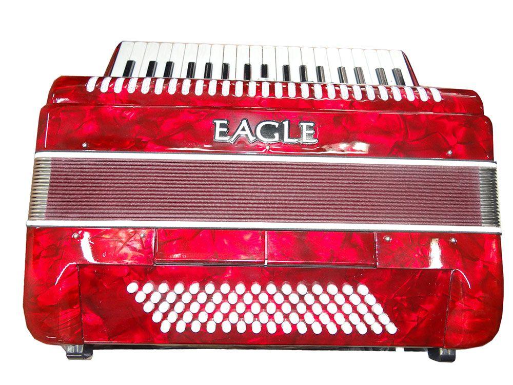 Acordeon 80BX Eagle EGA0780PRD 37T 7R Vermelho Saldo Usado