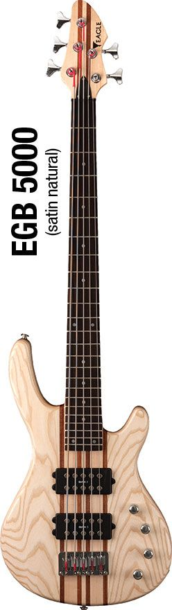 Baixo Eagle  EGB5000 Saint Natural 5 Cordas Ativo