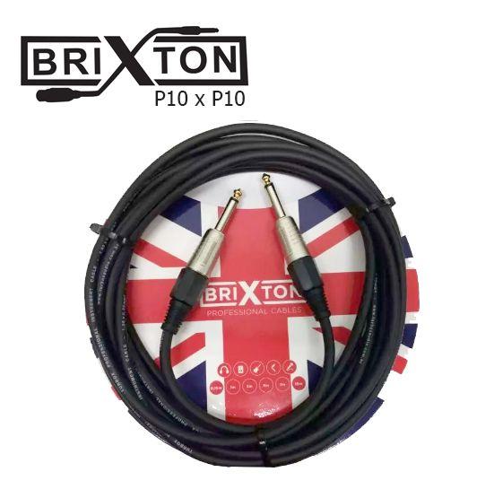 Cabo Brixton Bc107tx Textil 25ft 7,62m P10 P/Instrumento Metal