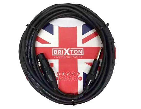 Cabo Microfone Brixton Bc310 10m EmborrachadoP10 Cannon Xlrf