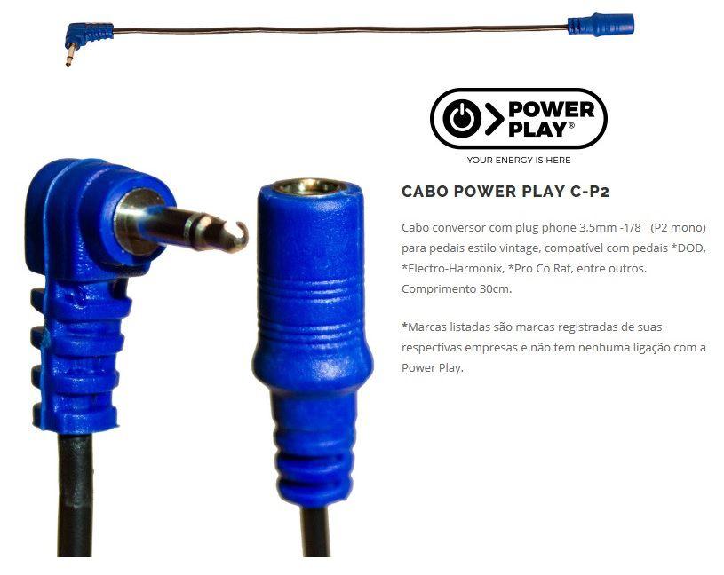 Cabo Power Play 608 Cp2 Conversor Dod. Electro Harmonix, Azul