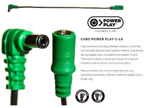 Cabo Power Play 613 Cgzm Conversor Plug Recuado Zoom G1,G2,G3,G5