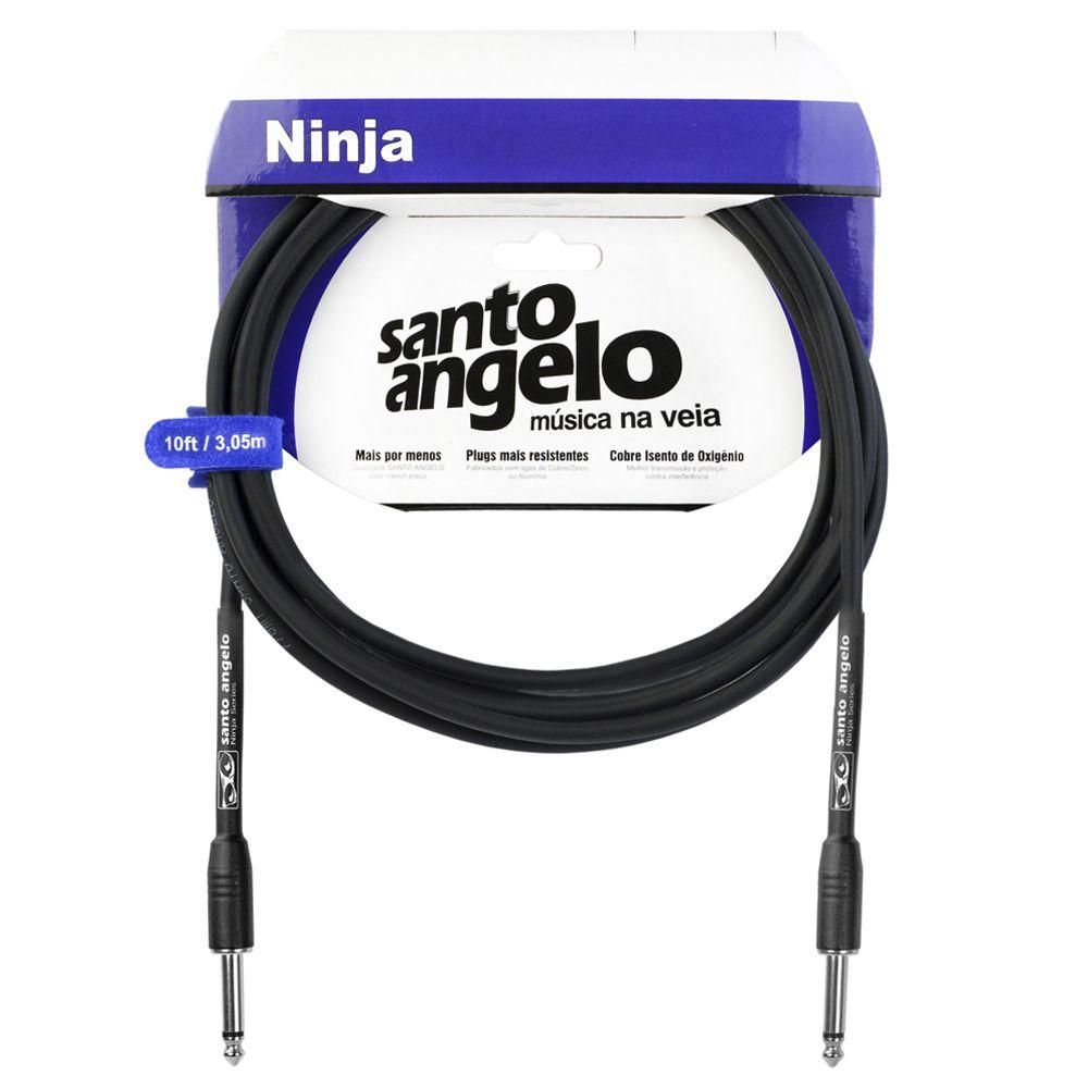 Cabo Santo Angelo 08537 Ninja 10ft 3,05m Embo.P10 P/Inst.Metal Preto