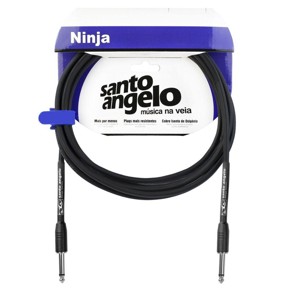 Cabo Santo Angelo 08551 Ninja 15ft 4,57m Embo.P10 P/Inst.Metal Preto