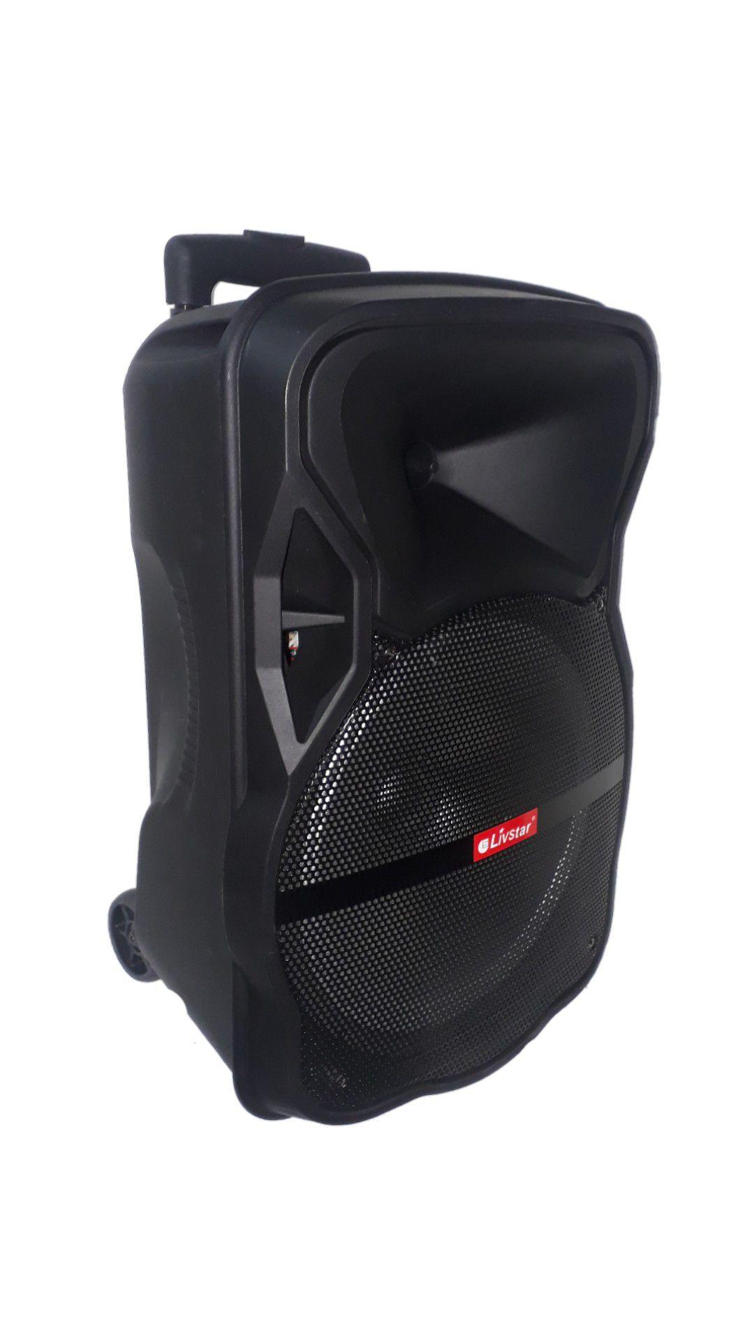CAIXA AMPL LIVSTAR CNN8023 BLUETOOTH USB SD FM MIC  FALANTE 12