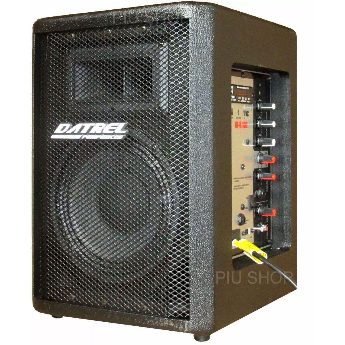 Caixa Amplificada Datrel At8100blu Bluetooth Usb/Sd/Fm Frontal2v.F8 C/Controle Remoto Ativa Alimenta Passiva100wrms