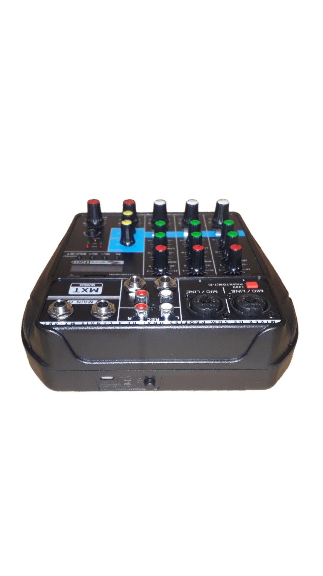 MESA.4CANAIS MXT MX4BT BLUETOOTH USB EFX INTERFECE 2C.XLR EFEITO PH 5 IMPORT