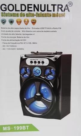 Caixa Amplificada Golden Ultra Ms202bt Com Bluetooth