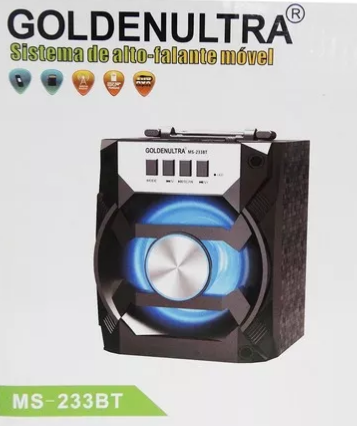 Caixa Amplificada Golden Ultra Ms233bt Com Bluetooth