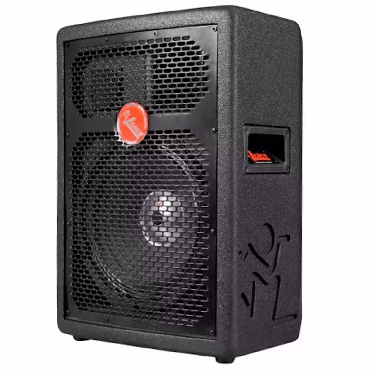 Caixa Amplificada Leacs Fit160a Bluetooth Usb/Sd/Fm,Fal10 Disp.Dig.Cont.Rem.Ativa 150wrms