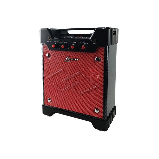 Caixa Amplificada Lenoxx Ca301 Usb/Sd/Fm Bat12v Ativa Cont.Rem.40wrms Vermelho